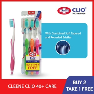 CLEENE40+ Care Extra Soft Toothbrush 3s,ToothbrushAll Must Go Sale