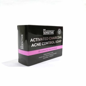 DR SENSITIVEActivated Charcoal Acne Control Soap 120g,Bar SoapWhat A Splash: All Products