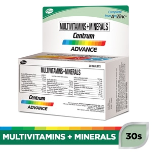CENTRUMCentrum Advance Multivitamins + Minerals 30 Tablets Bottle,Multivitamins and Overall WellnessBest Selling Products