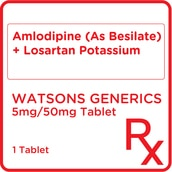 Amlodipine + Losartan 5mg/50mg Film-Coated Tablet [PRESCRIPTION REQUIRED]