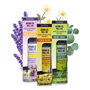 DERMAIDAroma Roll-on with Eucalyptus Extract Energy Boost,Traditional Medicine