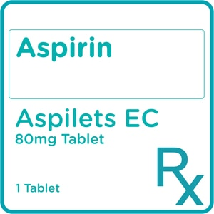 ASPILETSAspirin 80 mg 1 Enteric coated Tablet [PRESCRIPTION REQUIRED],Cardio HematoBest Selling Products