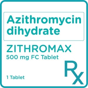 ZITHROMAXAzithromycin dihyrate 500mg 1 Film-coated Tablet [PRESCRIPTION REQUIRED],AntibioticsBest Selling Products