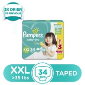 Baby Dry Extra Extra Large Diapers 34s