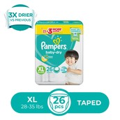 Baby Dry Taped Value XL 26s