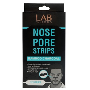 LABWORKSBamboo Charcoal Nose Pore Strips 12pcs,HELLOWT