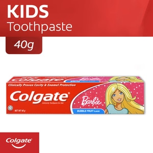 COLGATEBarbie Kids Toothpaste 40g,Baby and Kids' Toothbrush and ToothpasteClean Beauty