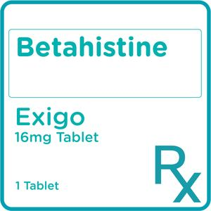 EXIGOBetahistine Hydrochloride 16mg 1 Tablet [PRESCRIPTION REQUIRED],Neuro and Pain Medicines7 For 14% off UNILAB