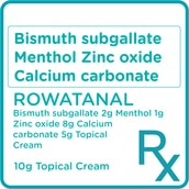 Bismuth subgallate + Menthol + Zinc oxide + Calcium carbonate 5mg Topical Cream [PRESCRIPTION REQUIRED]