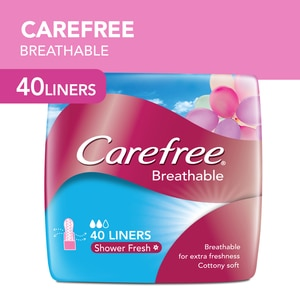 CAREFREEBreathable Shower Fresh Panty Liner 40s,Panty LinerJohnson and Johnson Mom and Baby