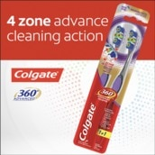 360 Advanced Toothbrush Twin Pack