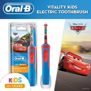 ORAL BCars Kids Power Toothbrush Handle (Ages 3+),Baby and Kids' Toothbrush and ToothpasteSummer Essentials