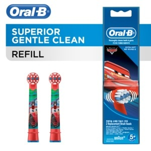 ORAL BCars Kids Power Toothbrush Refills 2s (Ages 5+),Baby and Kids' Toothbrush and ToothpasteSummer Essentials