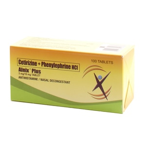 ALNIXCetirizine diHCl Phenylephrine HCl 5 mg/10 mg x1 Film-Coated Tablet,Multivitamins and Overall Wellness