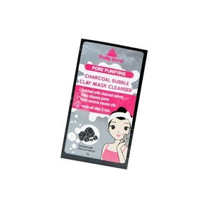 PRETTY SECRETCharcoal Bubble Clay Mask Cleanser 7g,For WomenAll Must Go Sale
