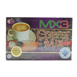 MX3Coffee Mix Low Acid Coffee with Mangosteen Exocarp 10g 1 Sachet,Health DrinksBest Selling Products