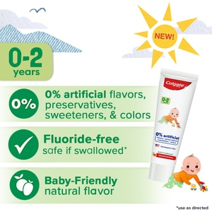 COLGATEColgate Kids Free From 0-2 Years Toothpaste,Oral CareClean Beauty