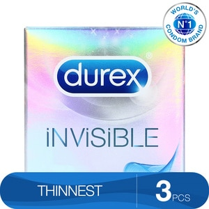 DUREXCondoms Invisible Protection Pack of 3s,