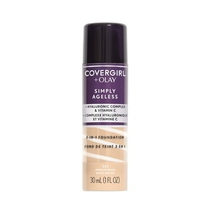 COVER GIRLCovergirl + Olay Simply Ageless 3-in-1 Liquid Foundation in Medium Beige,FoundationWCFREEDELIVER