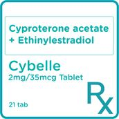 Cyproterone acetate Ethinylestradiol 2 mg/35 mcg x 21 Film-Coated Tablets/Box [PRESCRIPTION REQUIRED]