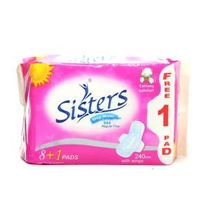 SISTERSDay Maxi Regular Flow with Wings  Cottony Comfort 81 pads,Sanitary Napkin