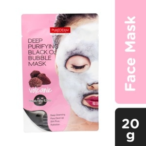 PUREDERMDeep Purifying Black 02 Volcano Bubble Mask 20g,For WomenAll Must Go Sale