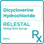 Dicycloverine Hydrochloride Syrup 10mg/5mL 60mL [PRESCRIPTION REQUIRED]