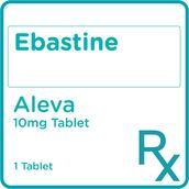 Ebastine 10 mg 1 Film-Coated Tablet [PRESCRIPTION REQUIRED]