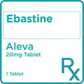 Ebastine 20 mg 1 Film-Coated Tablet [PRESCRIPTION REQUIRED]
