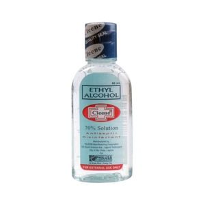 CLEENEEthyl Alcohol 70% Solution 60mL,Alcohol and Disinfectant