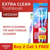 Extra Clean Toothbrush 2+1 set