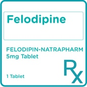 Felodipine 5mg 1 Tablet [PRESCRIPTION REQUIRED]