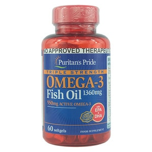 PURITANS PRIDEFish Oil Omega 3 1360mg Triple Strength 60 Softgels,Multivitamins and Overall Wellness