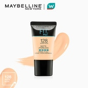 Fit Me Matte+Poreless Liquid Foundation Tube 18ml - 128 Warm Nude [USA Bestseller] by Maybelline