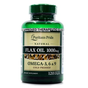 PURITANS PRIDEFlax Oil 1000mg 120 Softgels,Multivitamins and Overall Wellness