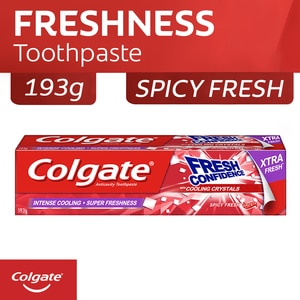 COLGATEFresh Confidence Spicy Fresh Gel Toothpaste with Cooling Crystals 145ml,ToothpasteClean Beauty