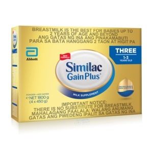 SIMILACSimilac GainPlus with HMO 1.8kg for Infants 1-3 Years,Milk FormulaShop Milk 1-5 Years Old