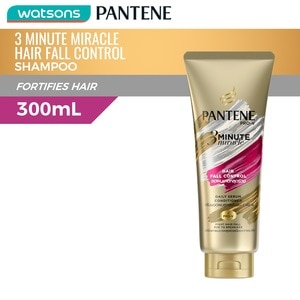 PANTENE3-Minute Miracle Hair Fall Control Pro Vitamin Conditioner 300mL,Anti Hair FallGet 1 Free Maxipeel Sun Protect Cream 15g when you buy any of selected Personal Care products per transaction.