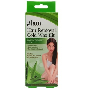 GLAMWORKSHair Removal Cold Wax Kit Aloe and Vit. E 50g,For WomenHELLOWT