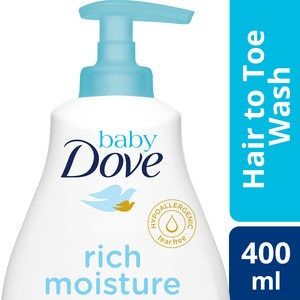 BABY DOVEHair To Toe Baby Wash Rich Moisture 400ml,Baby BathDOVE 20% OFF COUPON                     Y6=