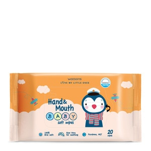 WATSONSHand And Mouth Baby Soft Wipes 20 Wipes x 5,Baby WipesWatsons Baby