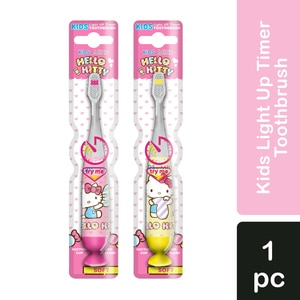 HELLO KITTYKids Toothbrush Light up Timer 1pc,Baby and Kids' Toothbrush and Toothpaste