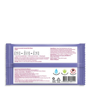 WATSONSInvigorating Wet Wipes Lavender Scented 3x10 Sheets,Face and Body WipesAll Must Go Sale