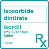 Isosorbide Dinitrate 5mg 1 Sublingual Tablet [PRESCRIPTION REQUIRED]