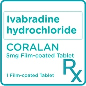 Ivabradine hydrochloride 5mg 1 Film-coated Tablet [PRESCRIPTION REQUIRED]