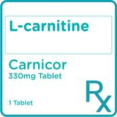 L-Carnitine 330 mg Tablet 1 Tablet [PRESCRIPTION REQUIRED]