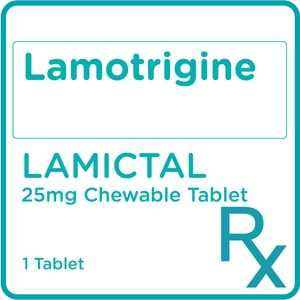 LAMICTALLamotrigine 25mg Chewable 1 Tablet [PRESCRIPTION REQUIRED],Neuro and Pain Medicines