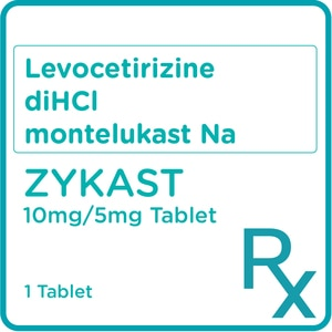 ZYKASTLevocetirizine diHCl montelukast Na 10mg/5mg 1 Tablet [PRESCRIPTION REQUIRED],OthersBest Selling Products