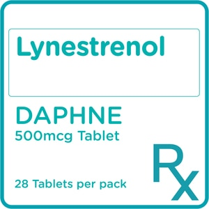 DAPHNELynestrenol 500 mcg Tablets x 28 Tablets/Pack [PRESCRIPTION REQUIRED],Contraceptives