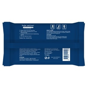KOJIE SANMen Cleansing And Cooling Face And Body Wipes 12 Sheets,HELLOWT